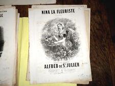Nina la fleuriste chansonnette pour piano chant 1855 Alfred de Saint-Jullien