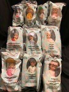 Madame Alexander Miniature Dolls McDonalds10 Lot 2003 Happy Meal Toys NEW