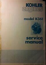 Kohler K361 Master Service Manual 56pg Repair 18 h.p Major Overhaul Tractor Lawn