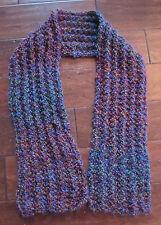 """Women's Handmade Boho Hippy Crochet Purple Knit Scarf Wrap 55"""" Long"""
