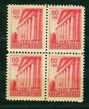 Deutsche Besetzung Estland 8 , ** , Viererblock