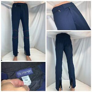 Olympian Retro Ski Pants 34x30 (36 tag) Blue Viscose Nylon Austria YGI K0-271
