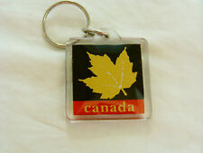 VINTAGE CANADIAN GOLD MAPLE LEAF, KEY CHAIN