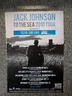 Jack Johnson. To The Sea. Australian Tour Poster. 2010.
