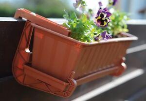 Hanging Window Box Rail Bracket Balcony Flower Hanger Support Holder Hook
