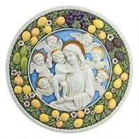 Virgin Mary And Child Roundel Religious Replica Design Toscano Wall Sculpture