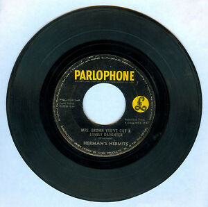 Phil HERMAN'S HERMITS Mrs. Brown You've Got A Lovely Daughter 45 rpm Record
