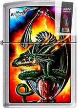 Zippo 7947 mazzi green dragon RARE & DISCONTINUED Lighter + FLINT PACK