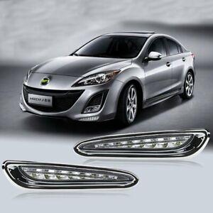 LED DayTime Running Light DRL Fog Lamp Kit For Mazda 3 2010 2011 2012 2013