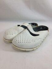 Alpro Birkenstock Clog Shoes Womens 7 White Close Toe Slip On Comfort Casual