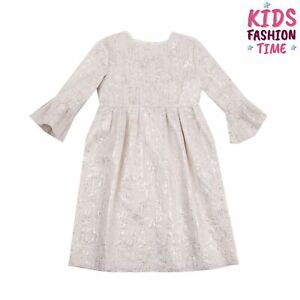 RRP €150 LAZY FRANCIS A-Line Brocade Dress Size 10Y 146CM Lame Flare Sleeve