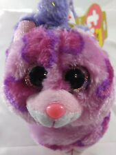 TY Beanie Boos Faux Fur EAR MUFFS & GLOVES SET, Purple & Pink Leopard, NEW