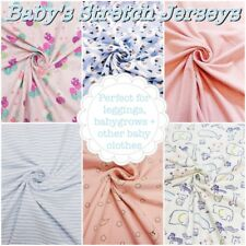 Baby's Soft Cotton JERSEY Patterned Stretch Knit Leggings Dressmaking Fabric