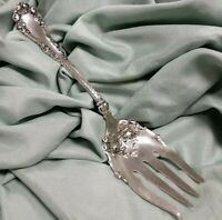 1847 Rogers Bros Berkshire Silverplate Solid Salad Serving Fork No Monogram