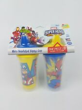 First Years Marvel Super Hero Adventure Insulated Sippy Cup 9 Oz Baby Cup 2pk