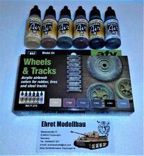 Wheels Tracks Panzerketten Räder Airbrush Color Set 6 Farben Vallejo 71213