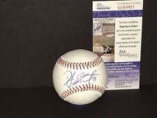 DJ Stewart Baltimore Orioles JSA COA Debut Autographed Signed Baseball