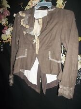 RINASCIMENTO DOVE TAIL LAGENLOOK TAIL COAT GOTH PEPLUM LACY SCARCE ITALY 36