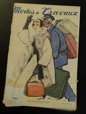 Magazine Modes & Travaux Janvier 1955 complet