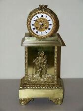ANTIQUE WORKING 19th C. FRENCH VICTORIAN ORNATE BRASS SILK SUSPENSION CLOCK