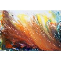 Caramel Chocolate Mocha Latte Abstract Painting Original Large Canvas