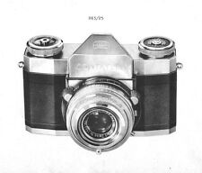 ZEISS CONTAFLEX Service Manual I II III IV film camera SERVICE MANUAL PLUS on CD