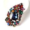 Betsey Johnson Colorful Crystal Rhinestone Flower Charm Women's Brooch Pin Gift