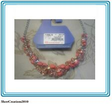 """NWT SIMPLY VERA VERA WANG Beaded Cluster Adjustable 18"""" - 21"""" Necklace #394"""