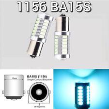 Rear Turn Signal Light 1156 BA15S P21W 7506 2396 LED Ice Blue Bulb K1 For GM HA