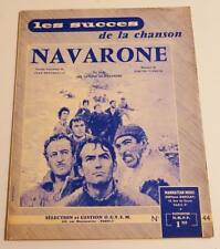 Partition vintage sheet music film GUNS OF NAVARONE * 60's NIVEN QUEEN PECK