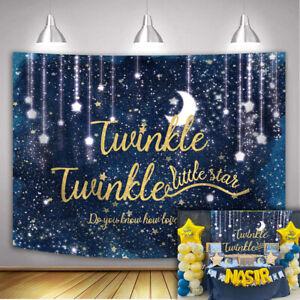 Twinkle Twinkle Litter Star Backdrops Glitter Starry Backdrop Baby Shower Decor