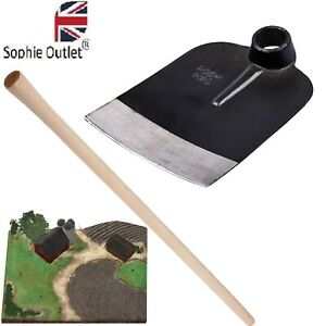Traditional Wooden Digging Hoe Garden Potatoes Dig Tool With Handle - 120cm UK