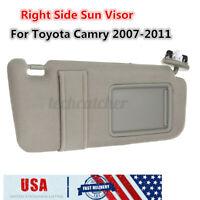 US Beige Right Side Sun Visor Sunshade W/ Vanity Light For Toyota Camry 2007-11