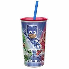 Zak Designs PJMA-S510 Disney Junior Kid's Water Tumblers, Plastic, PJ Masks