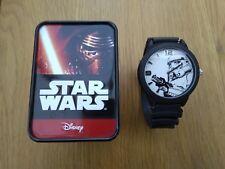 Disney Star Wars Stormtrooper Collectible Wrist Watch In Tin Case STM1100