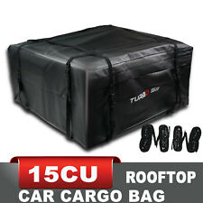 15 CU ft Car Rooftop Weatherproof Soft Roof Rack Cargo Carry Travel Storage Bag