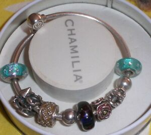 Authentic Chamilia Bangle bracelet with beads