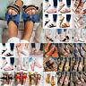Women's Slip On Sandals Flip Flops Summer Shoes Comfort Boho Flat Slipper Casual