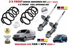 FOR MERCEDES VITO 115 CDI 2003-> 2X FRONT SHOCK ABSORBERS + 2 X COIL SPRINGS KIT