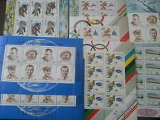 Russia 1991 year MNH 8 full mini sheets blocks collection Space sports fauna