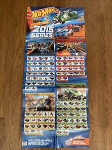 Hot Wheels 2015 Large Checklist Collectors Poster HW City Race Off-Road Workshop