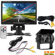 """Vehicle IR LED Backup Reverse Camera+ 7"""" LCD Rear View Monitor for Bus Truck RV"""