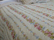 Shabby Chic DITSY FLORAL King Size Patchwork 100% Coton Réversible