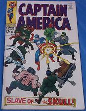 Marvel Comics Captain America #104 August 1968 Slave Of The Skull Jack Kirby