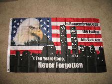 3'x5' Red White Blue Never Forgotten 911 3x5 Flag 3'x5' Banner Grommets