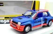 MODELLINO AUTO RENAULT 5 TURBO R5 BURAGO SCALA 1:24 DIECAST RALLY MODELLISMO NEW
