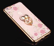 Slim Diamant Ständer Ring Silikon Clear Schutz hülle Case für Samsung S7 S8 Plus