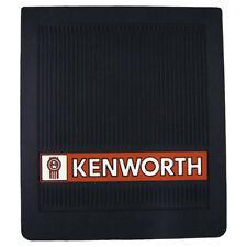 "Kenworth Trucks 16"" x 14"" OEM Ribbed Front Fender 1/4"" Thick Black Mud Flaps-Set"