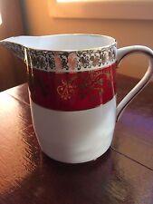 Vintage Royal Stafford Milk Jug/Creamer in Burgundy and Gold Lace,