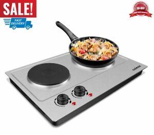 placa electrica dobles quemador portatil para encimera cocina cocinar herramient